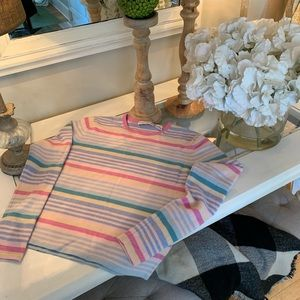 Autumn Cashmere  sweater! Striped pastels!💗